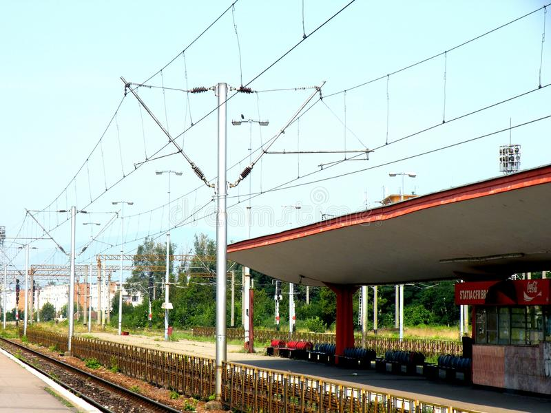 Railstation σε Brasov (Kronstadt), Transilvania, Ρουμανία στοκ εικόνες