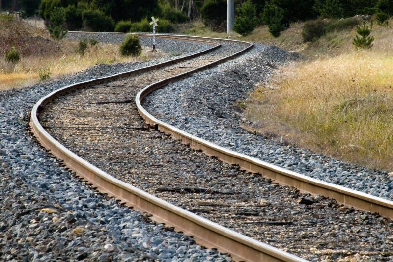 railtrack arkivbild
