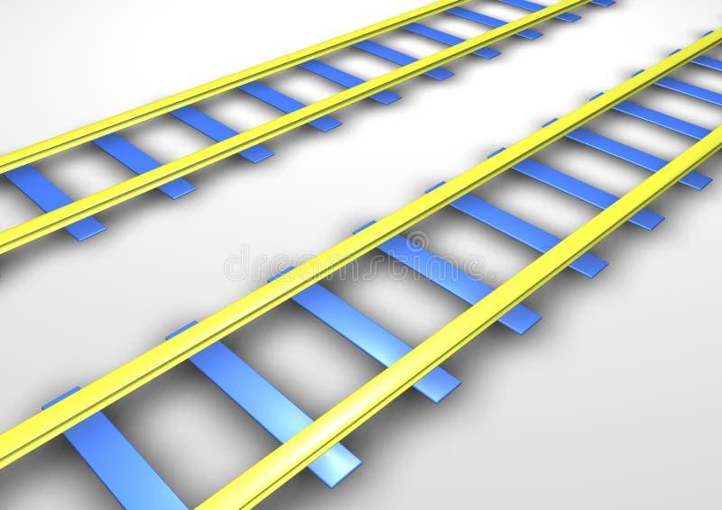 railtracks vektor illustrationer