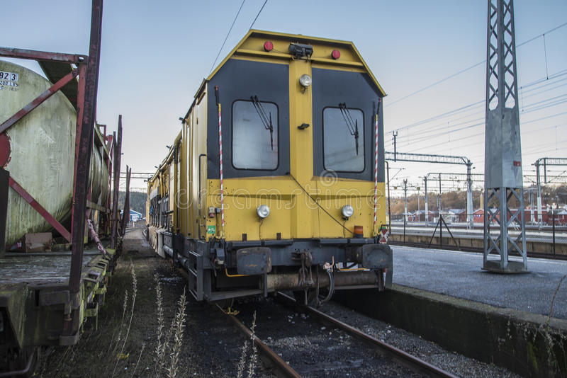 RAILVAC-16000, RA-3. Railvac RA 3 is a machine (locomotive) that moves, loads and transports ballast with vacuum suction technology.Image is shot at Halden stock photography