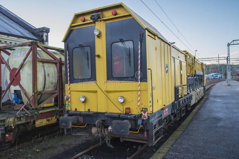 RAILVAC-16000, RA-3. Railvac RA 3 is a machine (locomotive) that moves, loads and transports ballast with vacuum suction technology.Image is shot at Halden royalty free stock photos