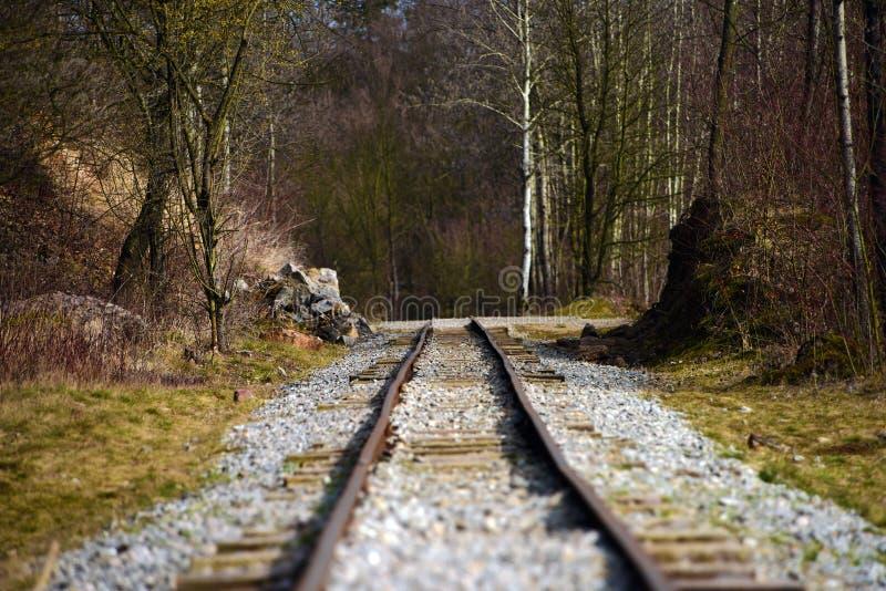 railway датчика узкий стоковое изображение
