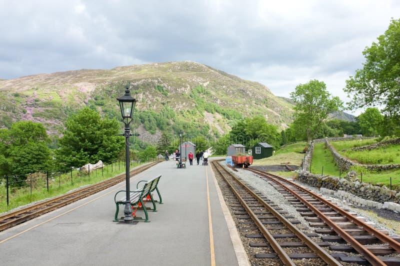 railway вэльс платформы beddgelert стоковое изображение rf