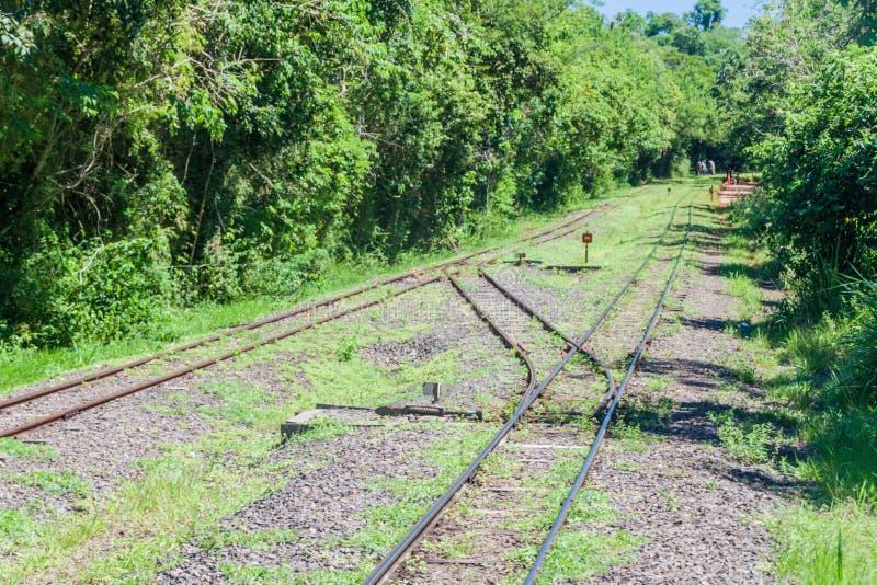 railway датчика узкий стоковое фото