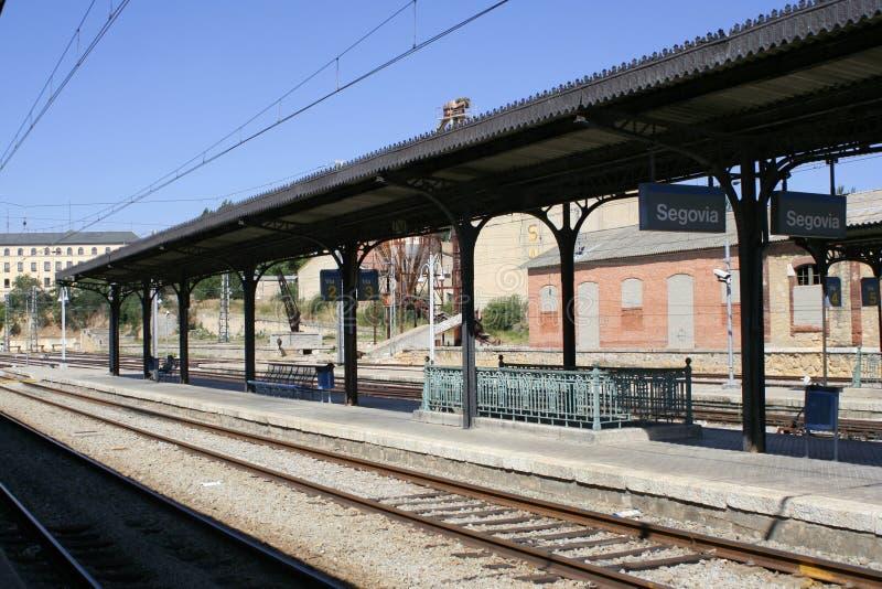 railway платформы стоковая фотография rf