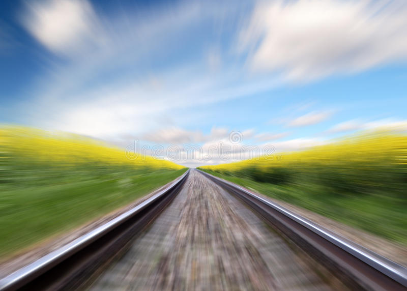 Download Railway stock image. Image of race, rail, landscape, movement - 12502967