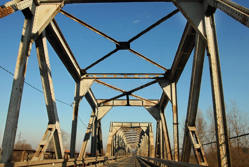Railway And Automobile Bridge Stock Image