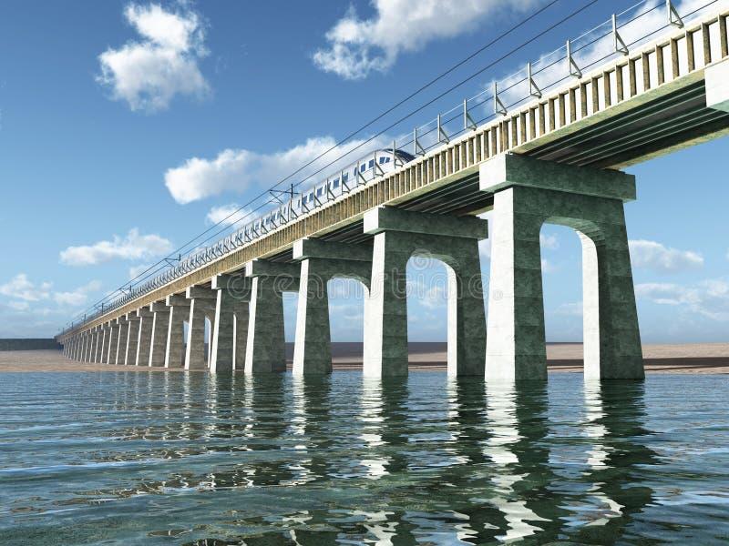 Download Railway bridge stock illustration. Illustration of architecture - 25153320