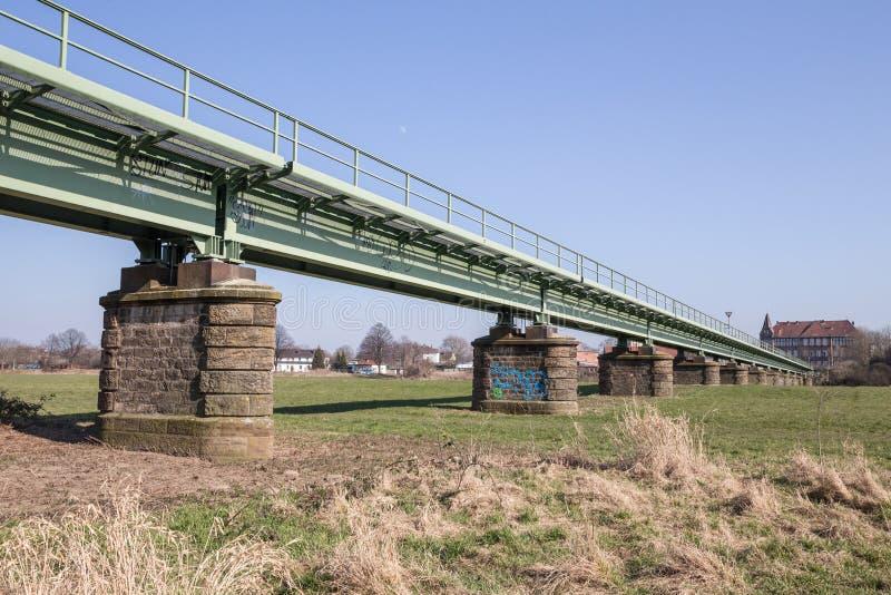 Railway bridge in minden germany. A railway bridge in minden germany stock photo