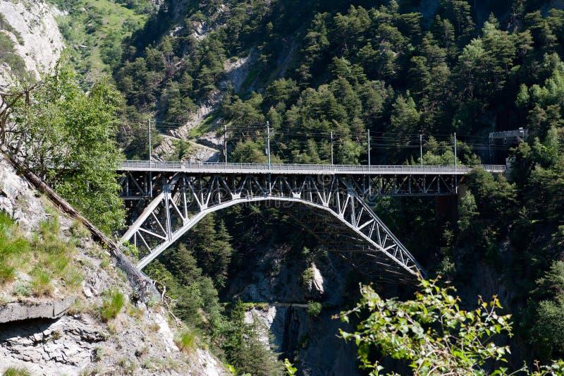 Railway bridge over canyon stock photos