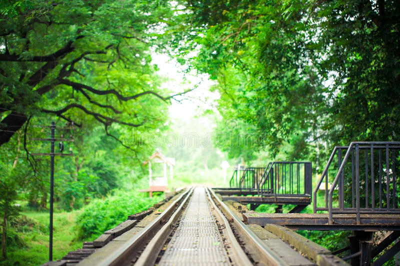Download Railway Bridge And Rails With Green Leaf Frame Stock Photo - Image of transportation, steel: 34233282