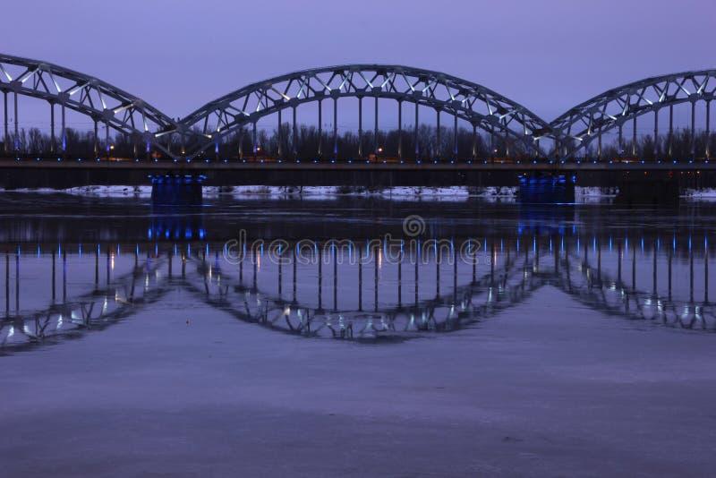 Railway Bridge - Riga, Latvia royalty free stock images