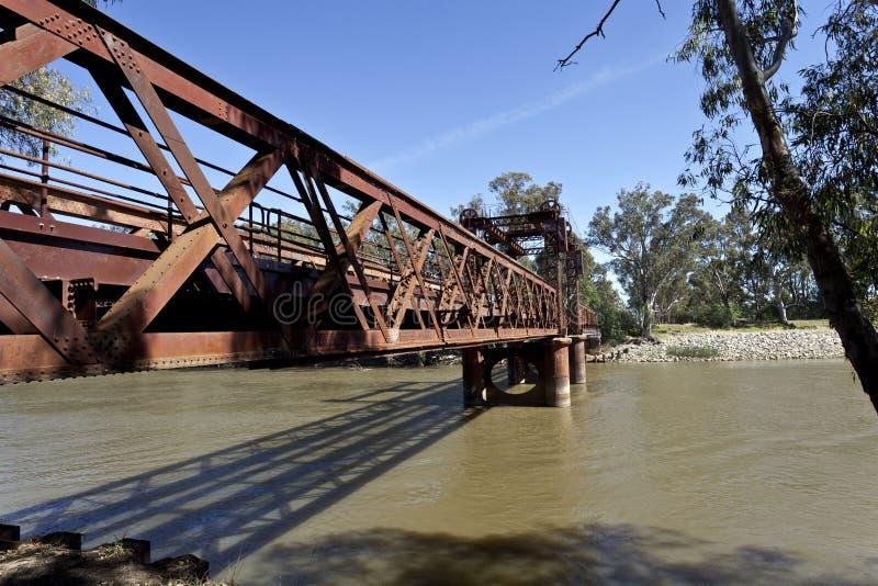 Download Railway Bridge at Tocumwal stock photo. Image of train - 36599356