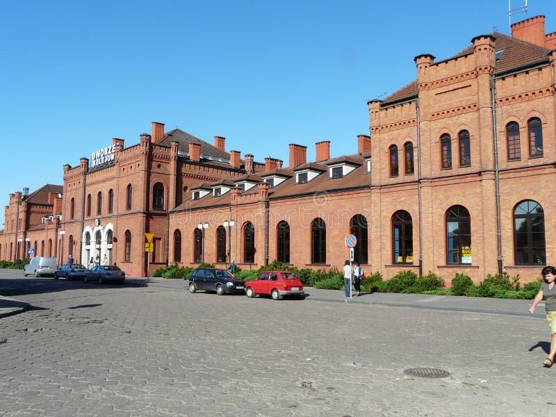 Skierniewice , Poland -Railway station in the city center of Skierniewice. Railway in the city center of Skierniewice , Poland royalty free stock images