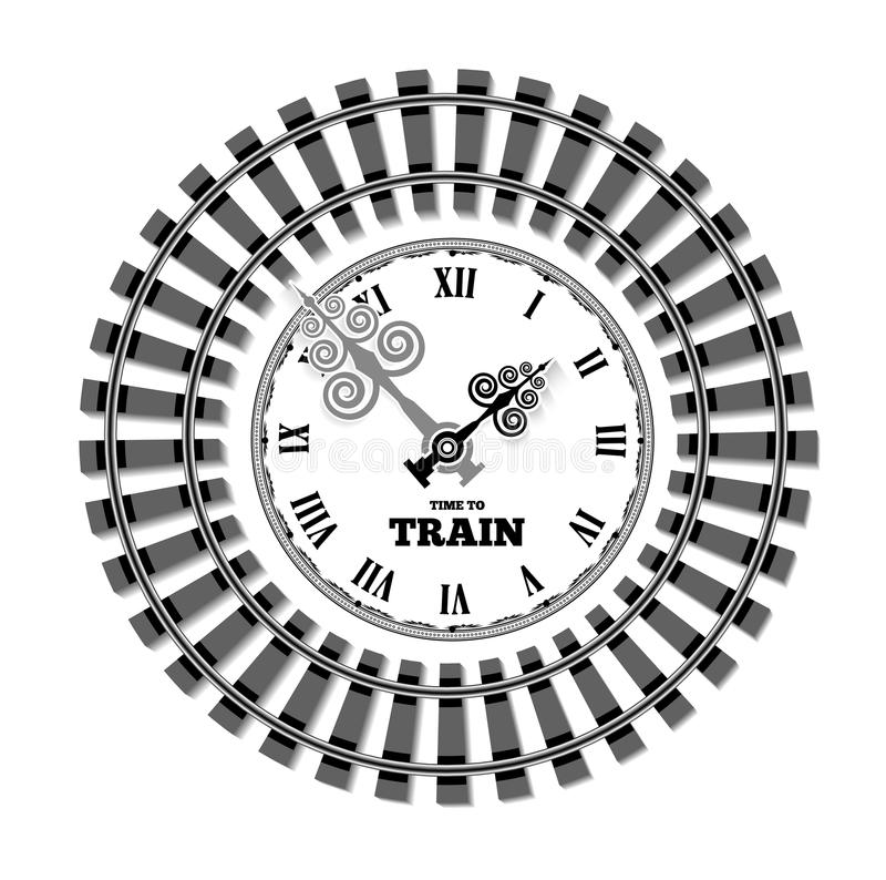 Railway clocks vector illustration. Vector railway clocks. The concept of the schedule time of arrival and departure of trains royalty free illustration