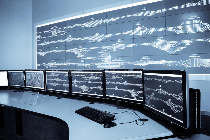 Download Railway control room stock photo. Image of modern, computer - 15254620