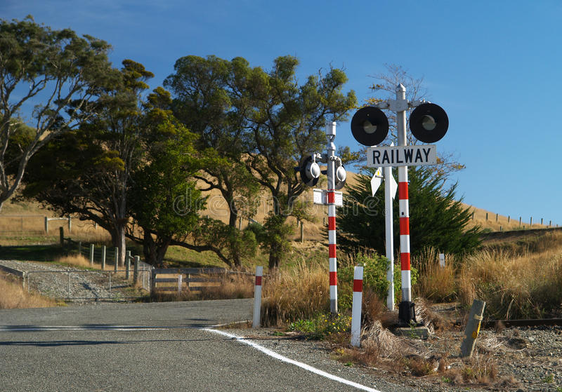 Download Railway crossing stock photo. Image of blue, crossing - 24465744