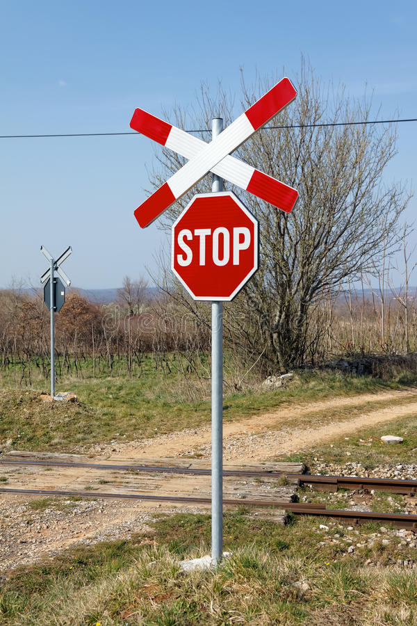 Free Railway Crossing Stock Photography - 51506372