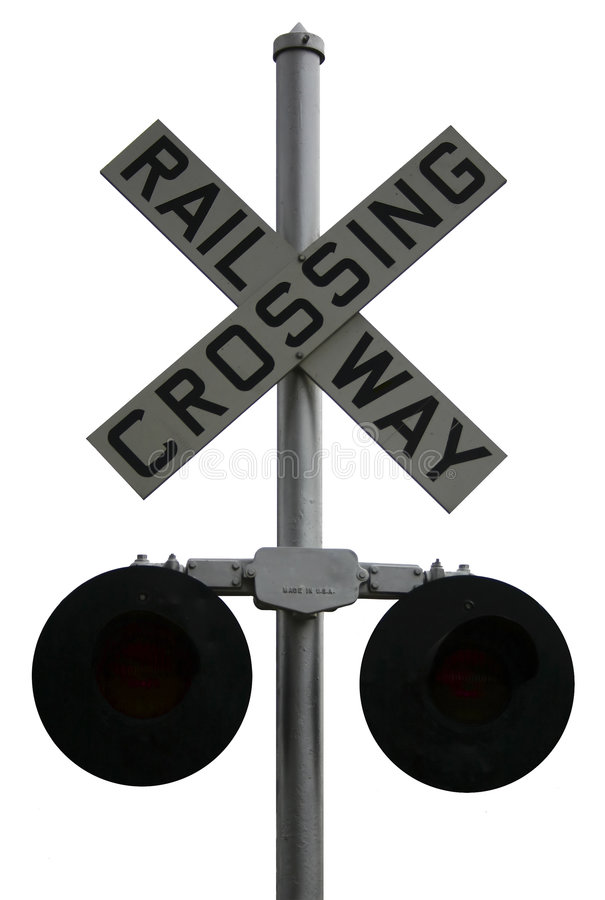 Railway Crossing royalty free stock photos