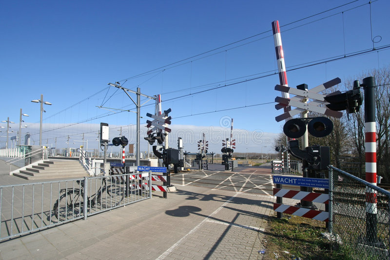 Download Railway Crossing stock photo. Image of wires, tram, trolley - 9143968