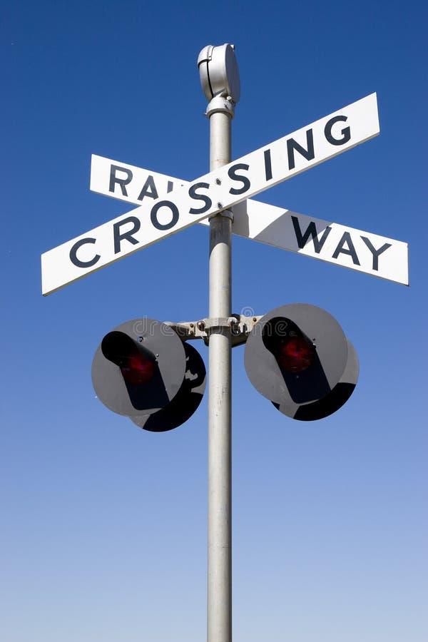 Download Railway Crossing Sign stock photo. Image of crossing, metal - 5587122