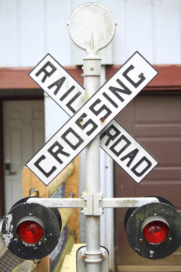 Download Railway Crossing Sign stock photo. Image of device, warning - 39482058