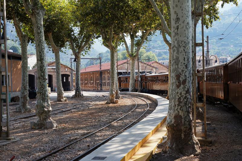 Railway depot in Spain stock image
