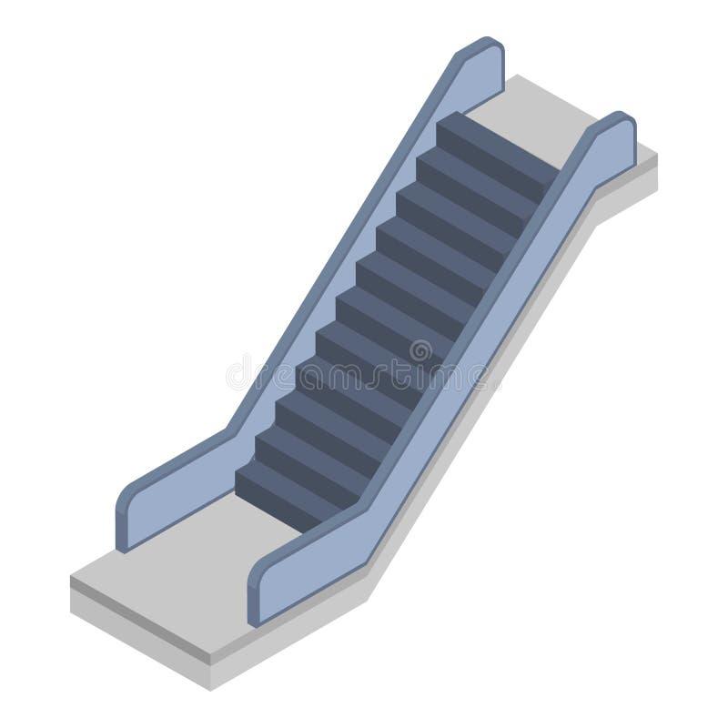 Railway escalator icon, isometric style royalty free illustration