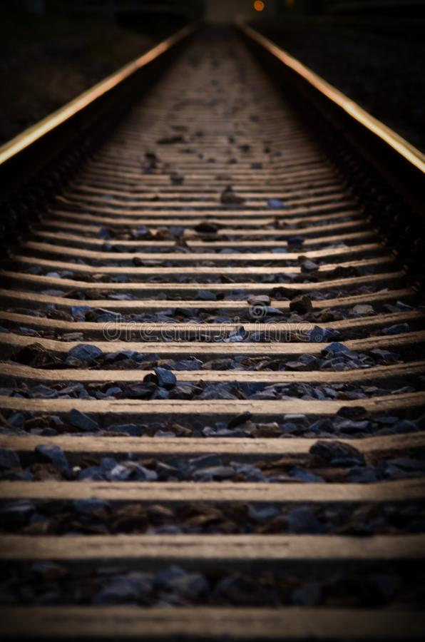 Download Railway at evening stock image. Image of gravel, evening - 26557809