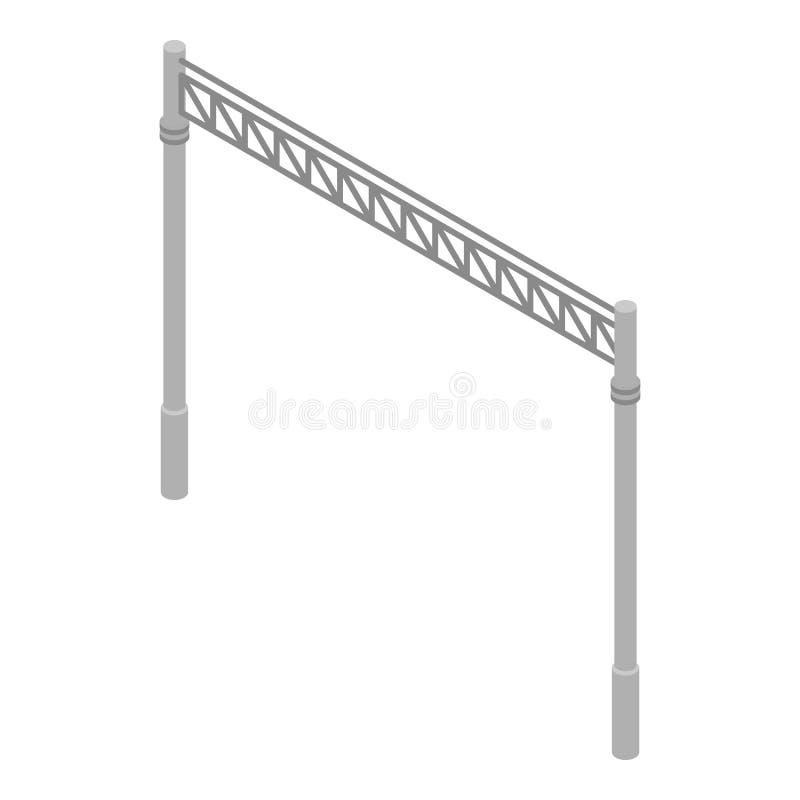 Railway gate icon, isometric style. Railway gate icon. Isometric of railway gate vector icon for web design isolated on white background vector illustration