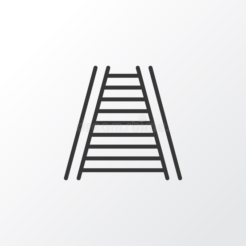 Railway Icon Symbol. Premium Quality Isolated Railroad Element In Trendy Style. stock illustration