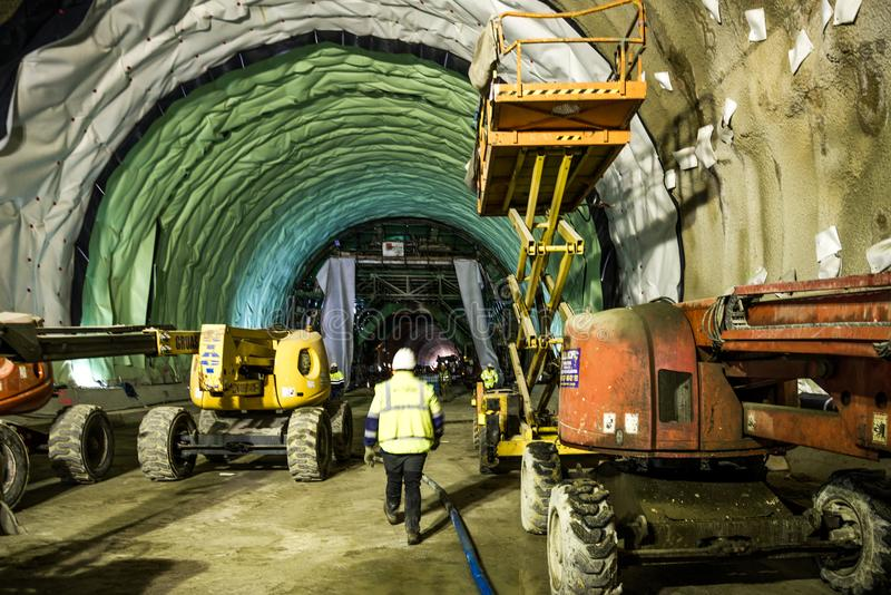 Railway infrastructure tunnel stock images