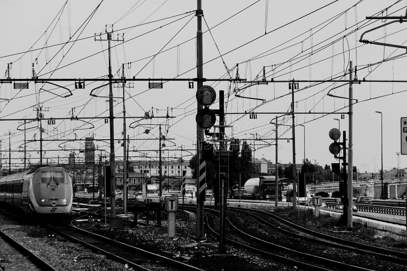 Railway Lines And Electrical Cables Free Public Domain Cc0 Image