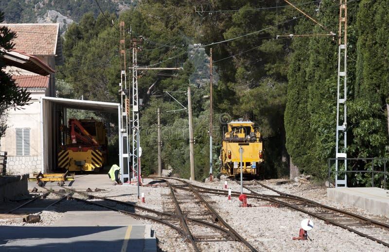 Railway mentenance machinery royalty free stock photo