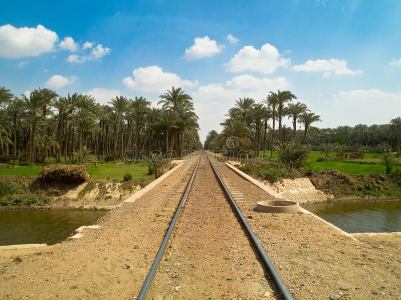 Railway network in Cairo royalty free stock photo