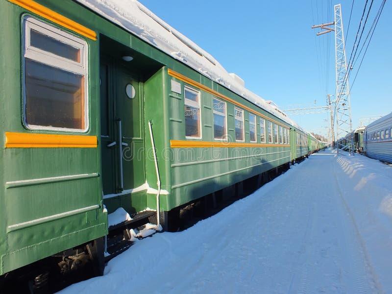 Railway platform royalty free stock photo