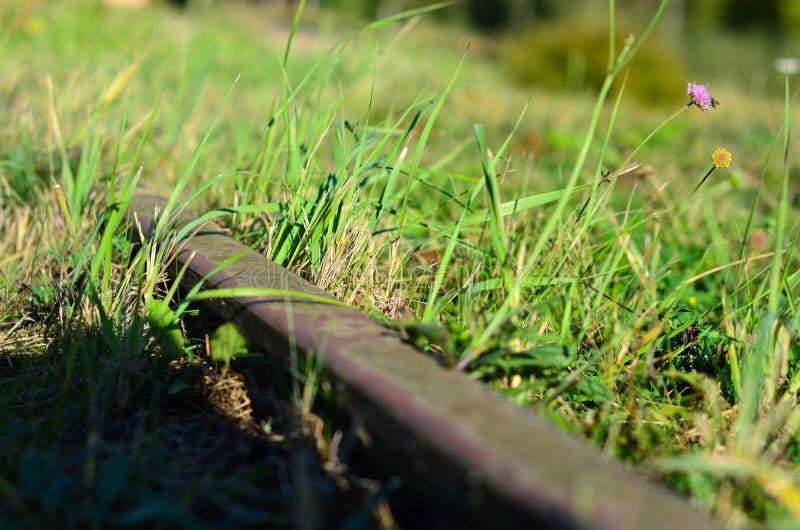 Railway pointwork element, steel pivot, high speed railway stock photo