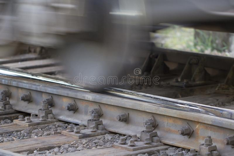 Railway tracks, high-speed rail Railway pointwork royalty free stock photography