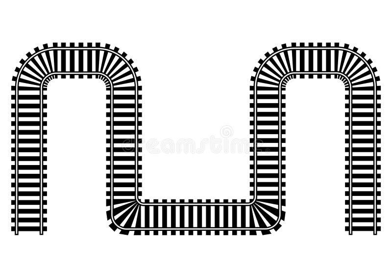 Railway railroad track illustration royalty free stock image