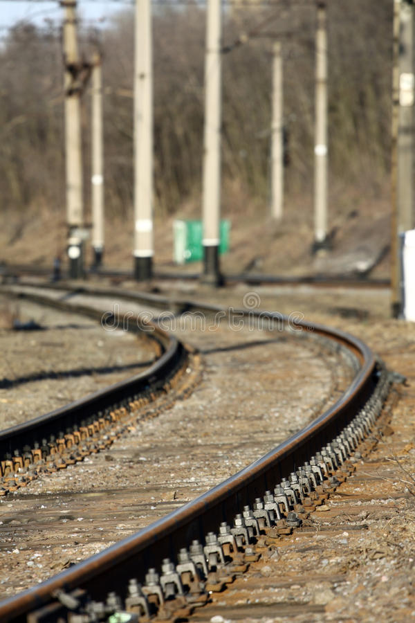 Download Railway rails stock image. Image of rubble, number, ties - 23483817