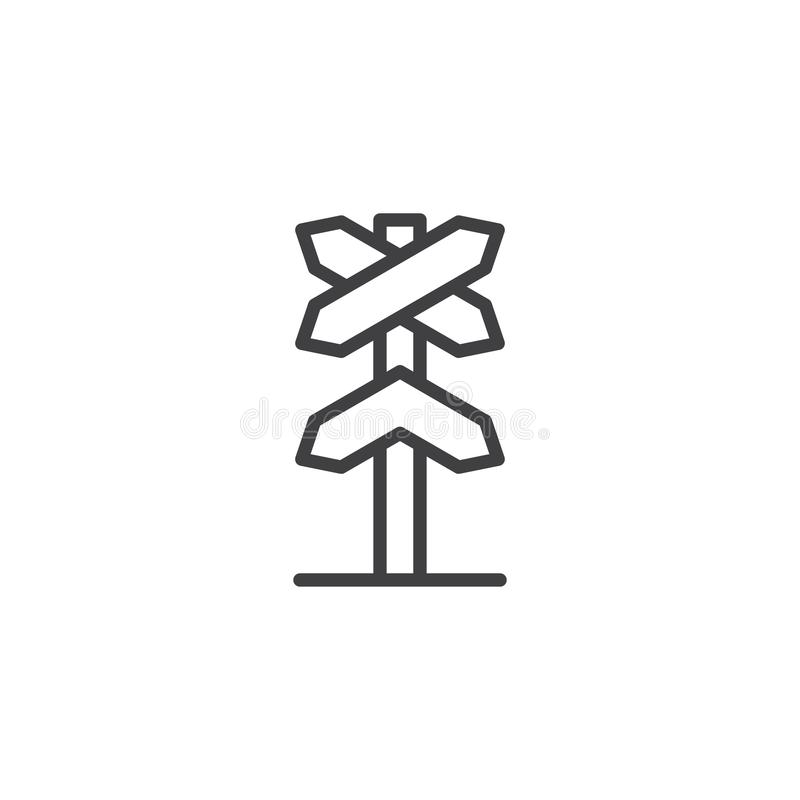 Free Railway Roadsign Outline Icon Royalty Free Stock Photography - 113701447