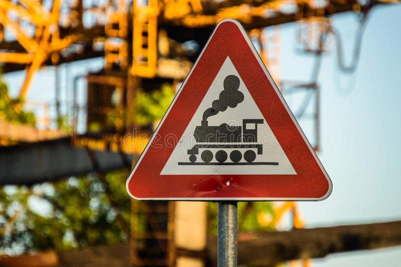 Railway sign stock photography