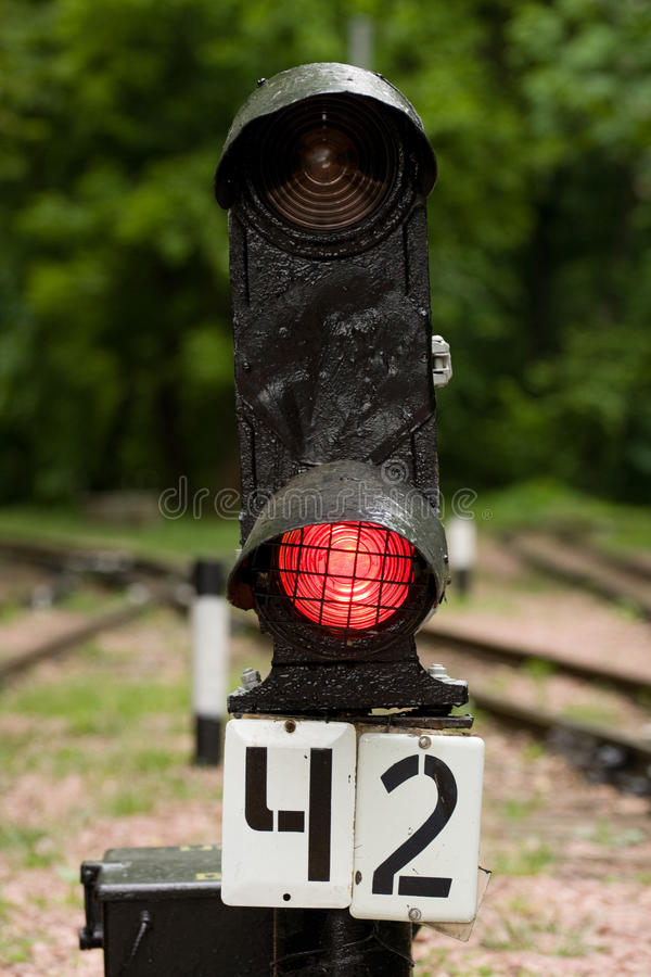 Download Railway signal stock image. Image of light, signal, traveling - 9495479