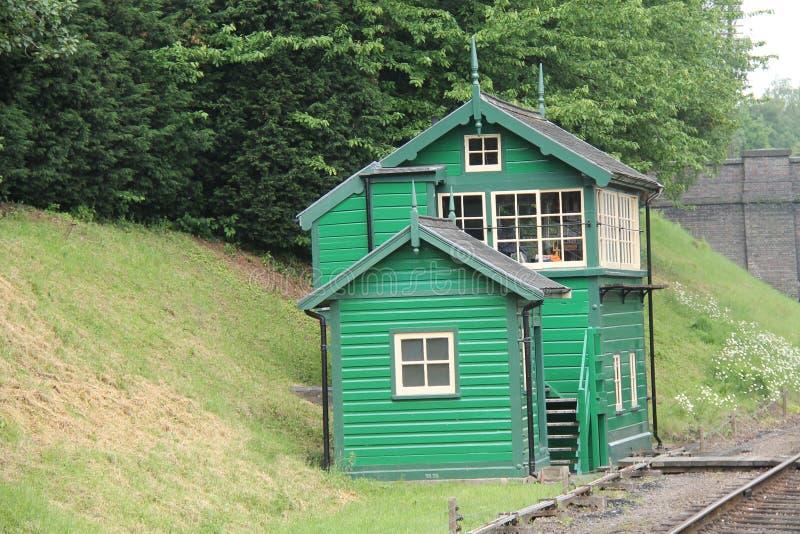 Railway Signal Box. stock photography