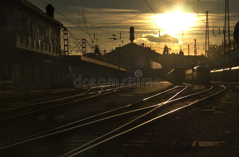Railway Station royalty free stock image