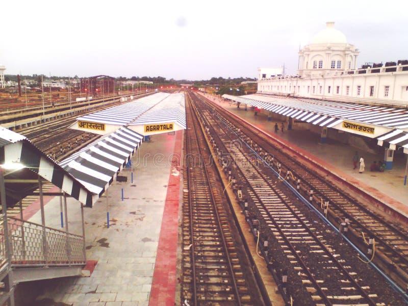 Railway station from agartala Tripura India royalty free stock photos