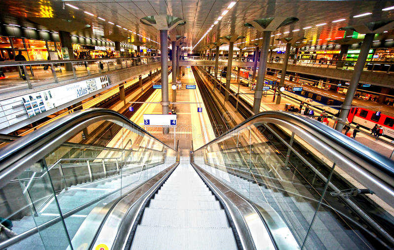 Railway station Berlin stock photo