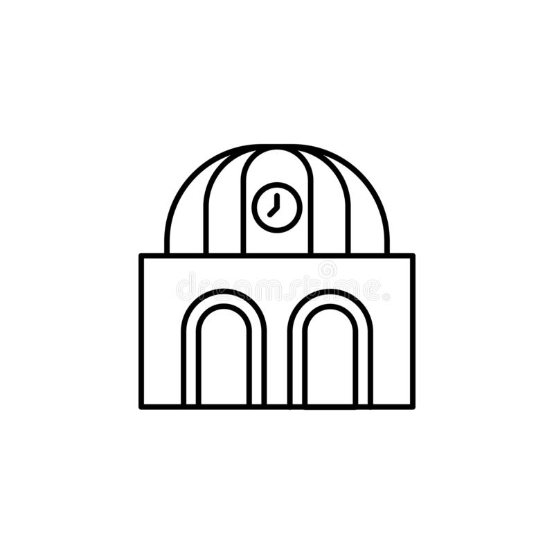 Railway station building icon. Element of train station icon. On white background royalty free illustration