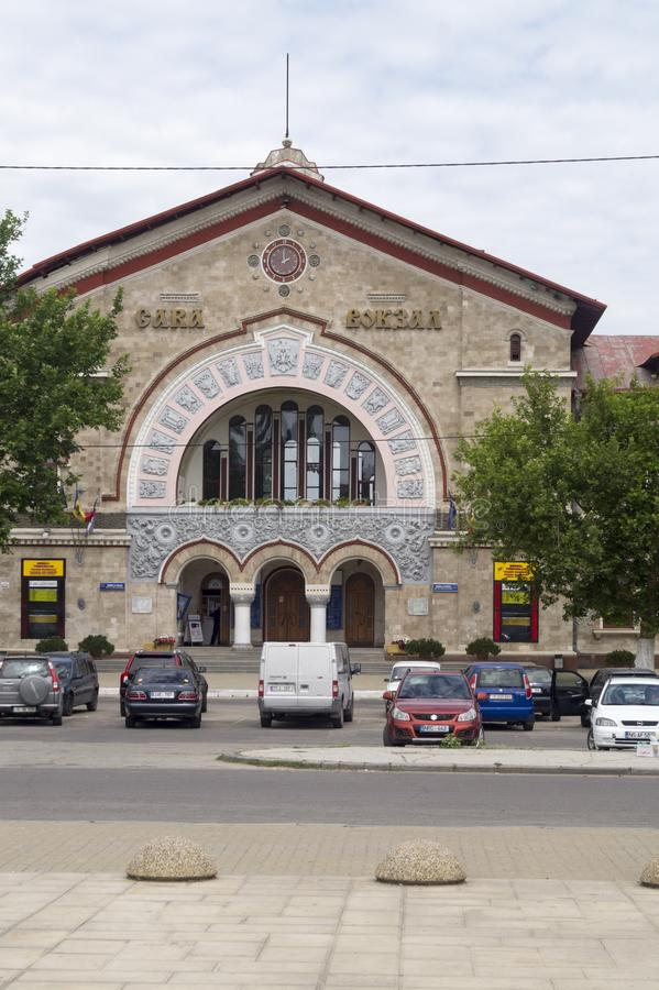 Railway station in Chisinau royalty free stock images