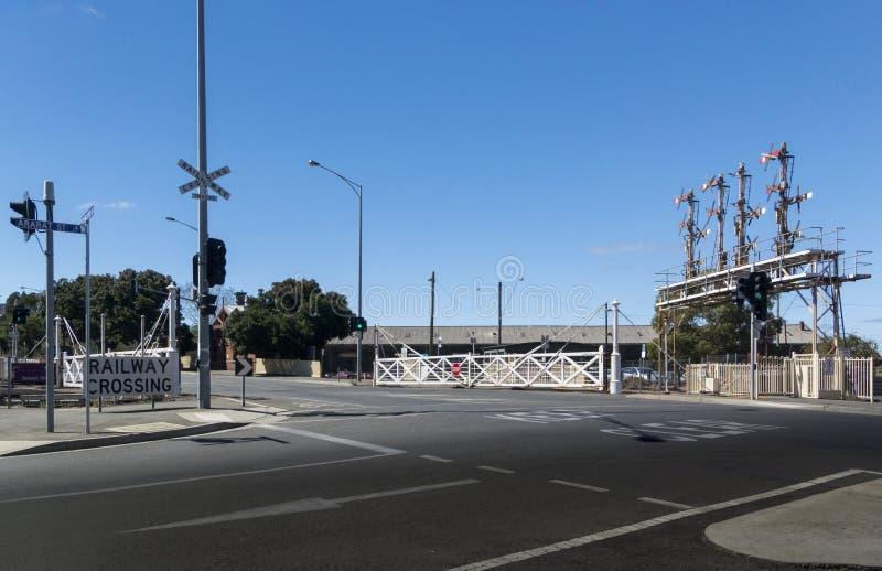 Ballarat Railway Station Crossing, Victoria, Australia royalty free stock photo